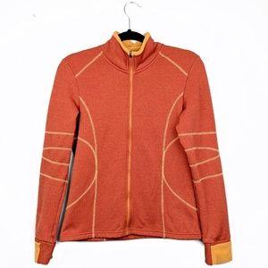Athleta | Orange Fleece-Lined Full-Zip Jacket